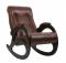 """Кресло-качалка """"Модель 4 б/л"""" венге/кофе миниатюра"""